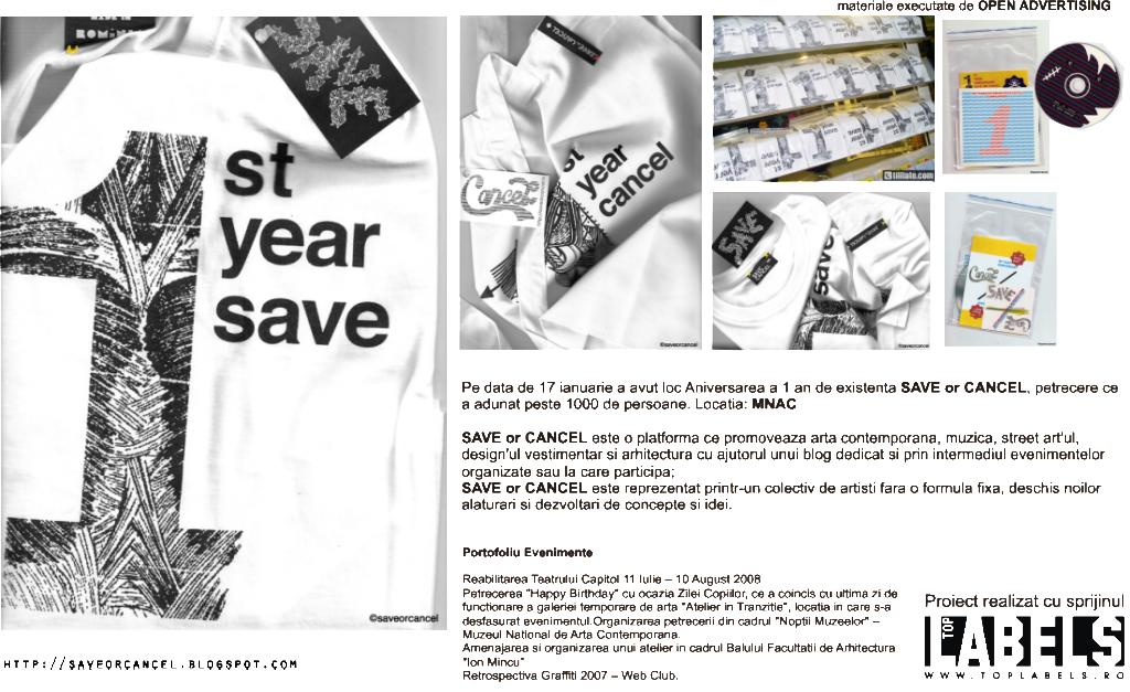 Pachet promotional Save or Cancel – Evenimente Aniversare II Ani de Activitate