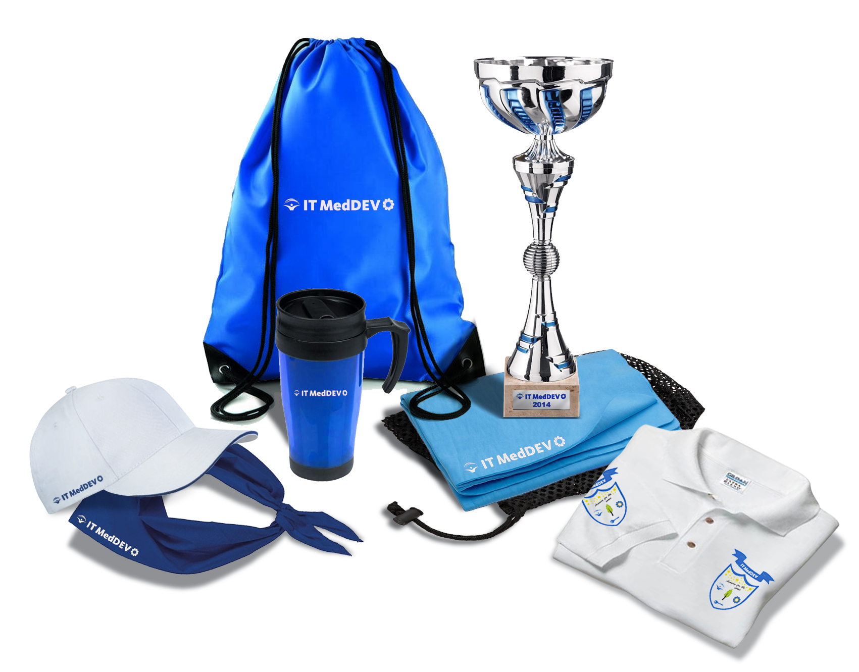 Corporate branding materials package for internal sportive activities support.