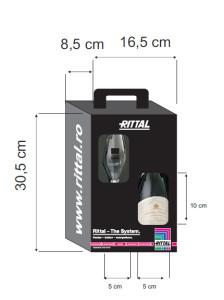 Ambalaj cadou vin + pahar